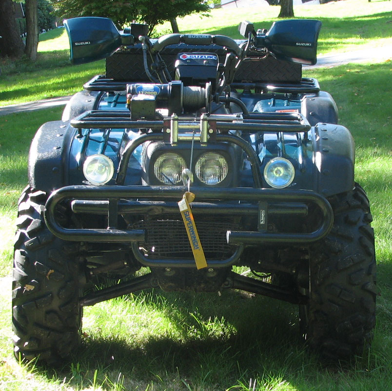 king quad 300 4x4 installed winch page 3 suzuki atv forum. Black Bedroom Furniture Sets. Home Design Ideas