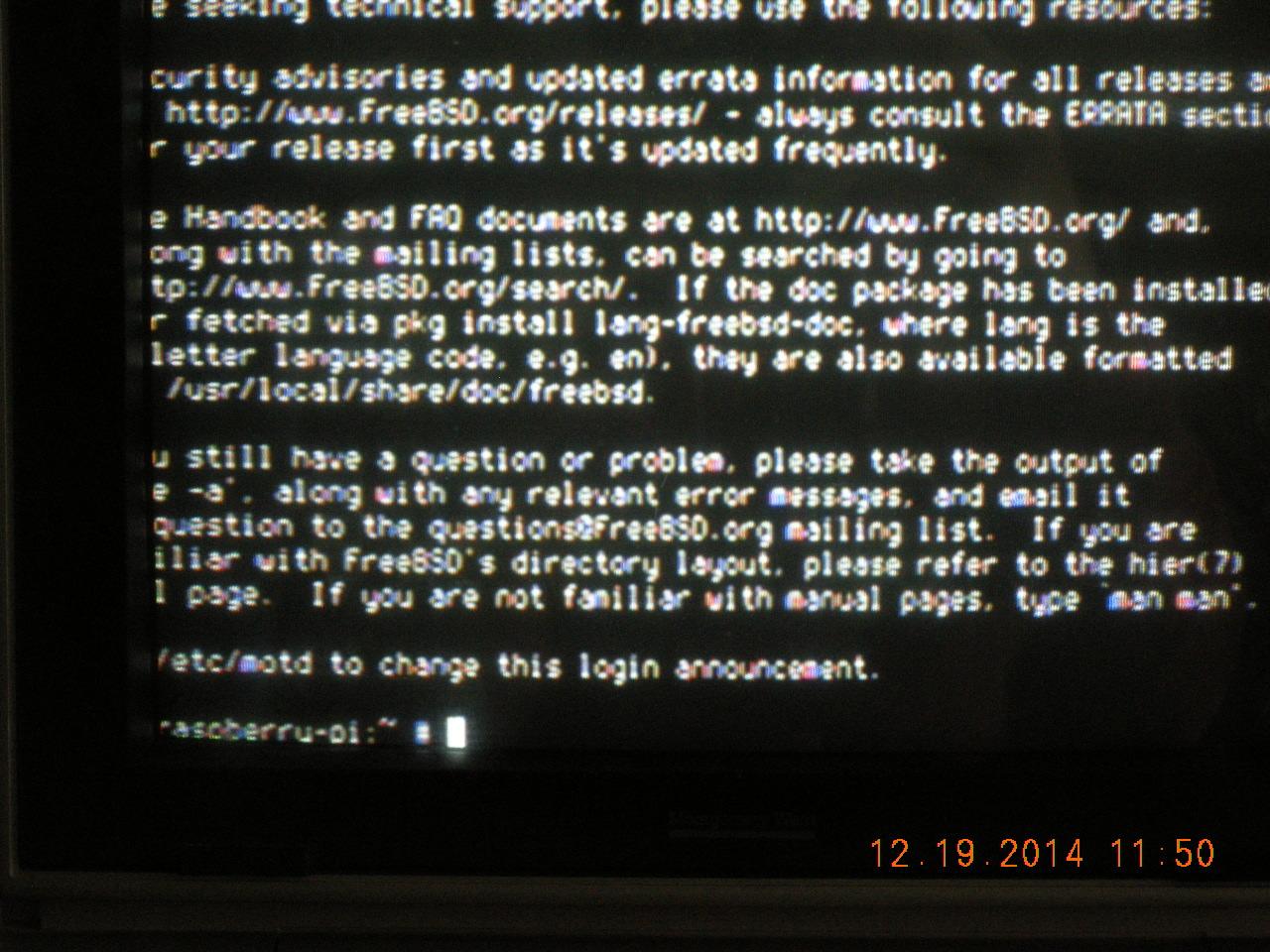 BOA (FreeBSD) server on Raspberry Pi (B) | Home