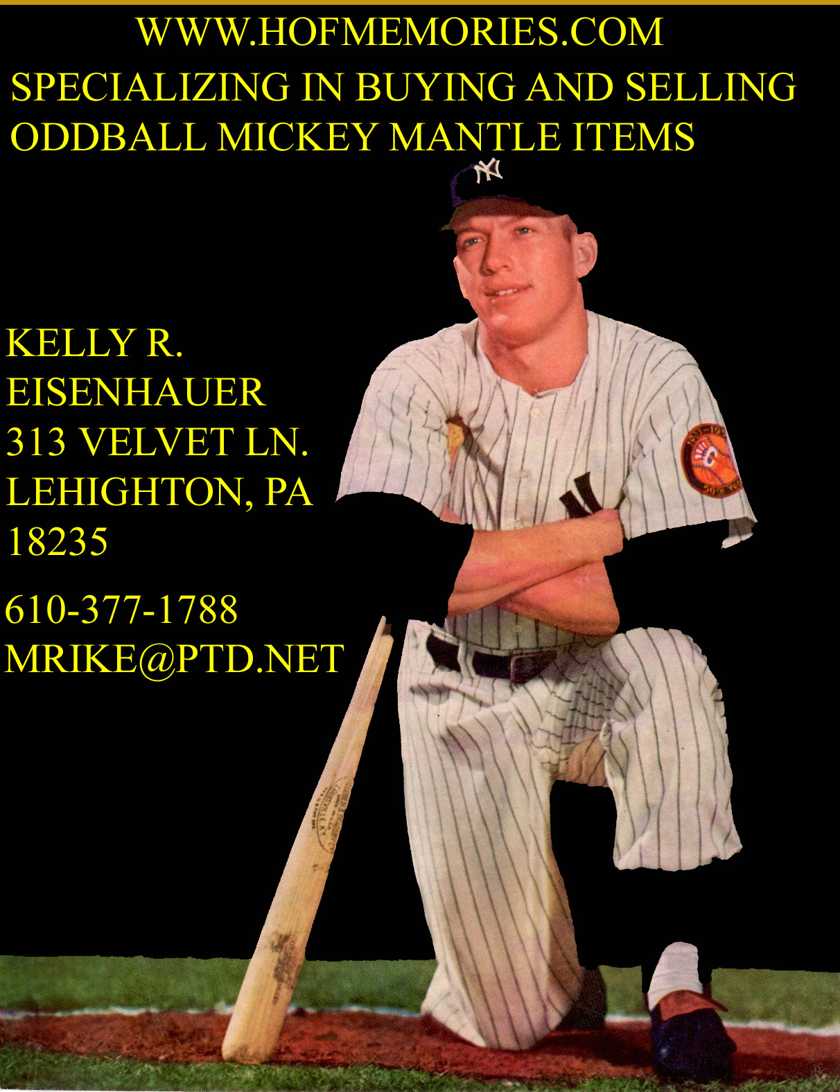 Hall Of Fame Memories Mickey Mantle Cards